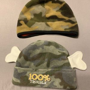 3/$30- Two Camouflage Boys Fleece hats